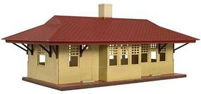 Trainman Branch Line Station - Kit (Plastic) HO Scale Model Railroad Building #718