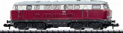 Trix Era III Class V 160 DB German Federal Railroad N Scale Model Train Diesel Locomotive #12460