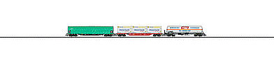 Trix Frght Transport 3-Car Set - N-Scale