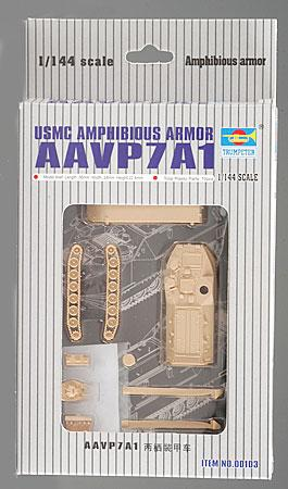 Trumpeter AAVP7A1 Assault Amphibious Armor -- Plastic Model Military Vehicle Kit -- 1/144 Scale -- #00103
