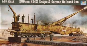 Trumpeter German Railway Gun K5(E) Leopold -- Plastic Model Military Weapon -- 1/35 Scale -- #00207