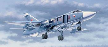 Trumpeter Sukhoi Su24M Fencer D Russian Attack Aircraft -- Plastic Model Airplane -- 1/48 Scale -- #002