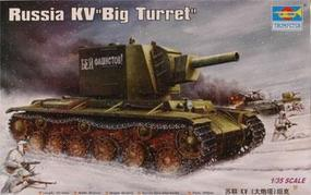Trumpeter Russian KV-2 Model 1939 Big Turret Tank Plastic Model Military Vehicle 1/35 Scale #00311