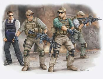 Trumpeter PMC VIP Protection Team in Iraq Figure Set (4) Plastic Model Kit 1/35 Scale #00420