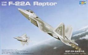 Trumpeter F-22A Raptor Fighter Plastic Model Airplane 1/144 Scale #01317