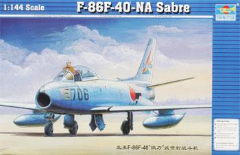 Trumpeter F86F40 Saber Jet -- Plastic Model Airplane -- 1/144 Scale -- #01321