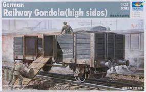 WWII German Army Gondola Railcar (High Sides) Plastic Model Kit 1/35 Scale #01517