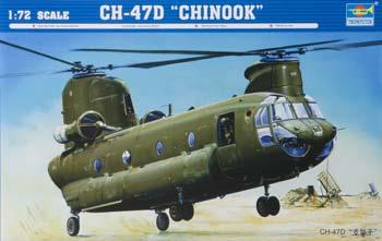 Trumpeter CH-47D Chinook Helicopter -- Plastic Model Helicopter -- 1/72 Scale -- #01622
