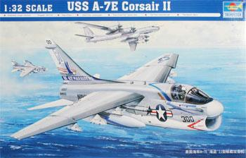 Trumpeter A7E Corsair II Aircraft -- Plastic Model Airplane -- 1/32 Scale -- #02231