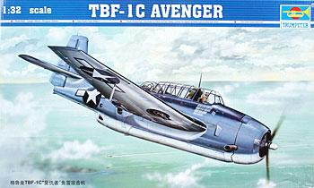 Trumpeter TBF1C Avenger Aircraft -- Plastic Model Airplane -- 1/32 Scale -- #02233