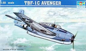 TBF1C Avenger Aircraft Plastic Model Airplane 1/32 Scale #02233
