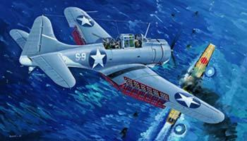 Trumpeter SBD3 Dauntless Midway US Navy Aircraft Plastic Model Airplane 1/32 Scale #02244