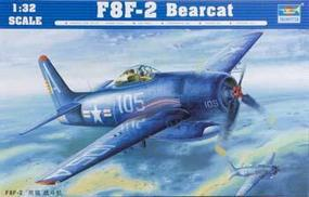 Trumpeter F8F2 Bearcat Fighter Plastic Model Airplane 1/32 Scale #02248