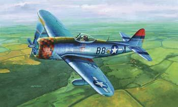Trumpeter P47D Thunderbolt Late Version Fighter Plastic Model Airplane 1/32 Scale #02264