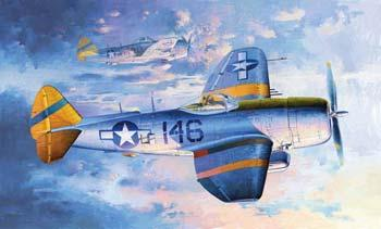 Trumpeter P47N Thunderbolt Fighter Plastic Model Airplane 1/32 Scale #02265
