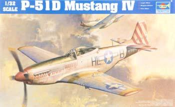Trumpeter P51D Mustang IV Fighter Plastic Model Airplane Kit 1/32 Scale #02275