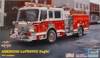 39 02 American Lafrance Eagle Fire Pumper Plastic Model Firetruck Kit 1 25 Scale 02506 By