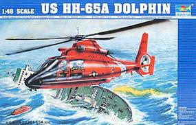 Trumpeter HH65A Dolphin Search + Rescue US Coast Guard Helicopter Plastic Model Kit 1/48 Scale #02801