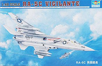 Trumpeter RA5C Vigilante Aircraft -- Plastic Model Airplane Kit -- 1/48 Scale -- #02809