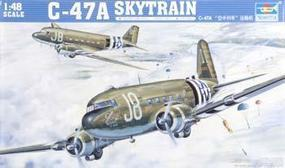 Trumpeter C-47A Skytrain Military Transport Aircraft Plastic Model Airplane Kit 1-48 Scale #02828