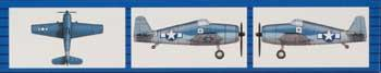 Trumpeter F6F Hellcat Plane Set of 18 for USS Essex -- Plastic Model Airplane Kit -- 1/700 Scale -- #0406