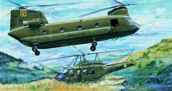 Trumpeter CH47A Chinook Helicopter -- Plastic Model Helicopter Kit -- 1/35 Scale -- #05104
