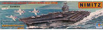 Trumpeter USS Nimitz CVN-68 Aircraft Carrier -- Plastic Model Military Ship Kit -- 1/500 Scale -- #05201