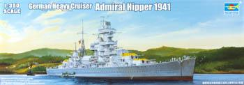 Trumpeter German Admiral Hipper Heavy Cruiser 1941 Plastic Model Military Ship Kit 1/350 Scale #05317