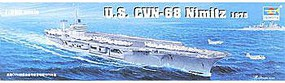 Trumpeter USS Nimitz CVN68 1975 Aircraft Carrier Plastic Model Military Ship Kit 1/350 Scale #05605