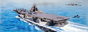 Trumpeter USS Hancock CV19 Aircraft Carrier -- Plastic Model Military Ship Kit -- 1/350 Scale -- #05610