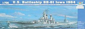 Trumpeter U.S.S. Iowa BB-61 1984 Battleship Plastic Model Military Ship Kit 1/700 Scale #05701