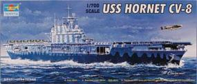Trumpeter U.S.S. Hornet CV-8 US Aircraft Carrier Plastic Model Military Ship Kit 1/700 Scale #05727