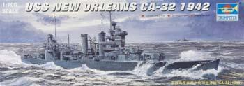 Trumpeter USS New Orleans CA32 Cruiser 1942 Plastic Model Military Ship 1/700 Scale #05742