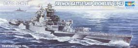 Trumpeter French Navy Richelieu Battleship 1943 Plastic Model Military Ship 1/700 Scale #05750