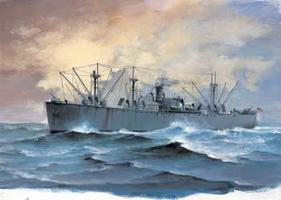 Trumpeter SS Jeremiah OBrien Liberty Ship Plastic Model Military Ship 1/700 Scale #05755