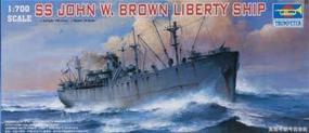 Trumpeter SS John W Brown Liberty Ship Plastic Model Military Ship 1/700 Scale #05756