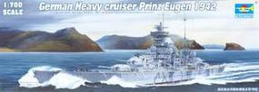 Trumpeter German Prinz Eugen Heavy Cruiser 1942 Plastic Model Military Ship 1/700 Scale #05766