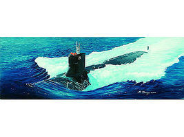 Trumpeter USS SSN-21 Sea Wolf Submarine Plastic Model Military Ship 1/144 Scale #05904