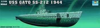 Trumpeter USS Gato SS-212 Sub 1944 Plastic Model Military Ship 1/144 Scale #05906