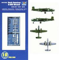 Trumpeter B-25B Mitchell Aircraft Carrier Fleet (10) Plastic Model Airplane Kit 1/350 Scale #06201