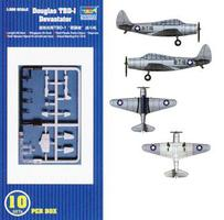 Trumpeter TBD1 Devastator Aircraft Set of 10 for USS Hornet Plastic Model Airplane Kit 1/350 #06203