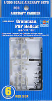 Trumpeter Grumman F6F Hellcat Aircraft Fleet (6) Plastic Model Airplane Kit 1/350 Scale #06210