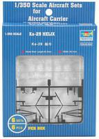 Trumpeter Ka29 Helix Helicopter Set (6/Bx) (D) Plastic Model Helicopter Kit 1/350 Scale #06227