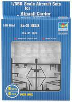 Trumpeter Ka31 Helix Helicopter for Set (6/Bx) (D) Plastic Model Helicopter Kit 1/350 Scale #06228