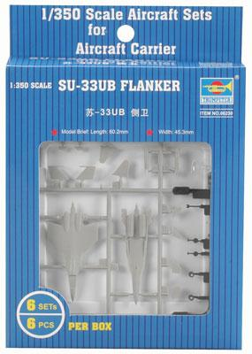 Trumpeter 1/350 Su33UB Flanker Aircraft for Modern Russian Carriers (6/Bx) (D)