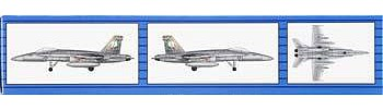 Trumpeter F/A-18C Hornet (6) Fighter Aircraft -- Plastic Model Airplane Kit -- 1/350 Scale -- #06233