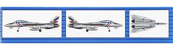 Trumpeter F-14B/D Super Tomcat (6) Plastic Model Airplane Kit 1/350 Scale #06236