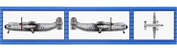 Trumpeter C-2 Greyhound (6) -- Plastic Model Airplane Kit -- 1/350 Scale -- #06238