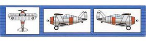 Trumpeter F2F Fighter-Single Eng Bipe (6) Plastic Model Airplane Kit 1/350 Scale #06241