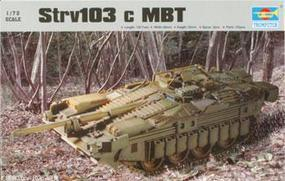 Trumpeter Strv 103c Main Battle Tank Plastic Model Military Vehicle Kit 1/72 Scale #07220